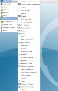 KDE explosion in the GNOME menus